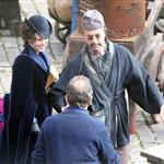 Rachel McAdams and Robert Downey Jr on set of Sherlock Holmes: A Game of Shadows in London 94881