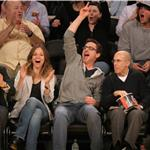 Robert Downey Jr and wife Susan courtside at LA Lakers game  81431