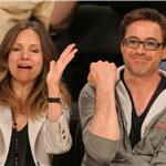 Robert Downey Jr and wife Susan courtside at LA Lakers game  81433