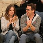 Robert Downey Jr and wife Susan courtside at LA Lakers game  81434