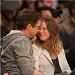 Robert Downey Jr and wife Susan courtside at LA Lakers game  81436