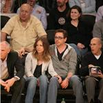 Robert Downey Jr and wife Susan courtside at LA Lakers game  81440