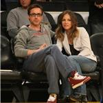 Robert Downey Jr and wife Susan courtside at LA Lakers game  81441