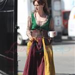 Cast of Red Riding Hood in medieval costume on set in Vancouver 65817