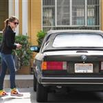 Nikki Reed with Robert Pattinson's car 36255