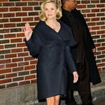 Reese Witherspoon at Letterman promoting Four Christmases without Vince Vaughn 28122