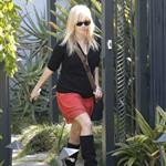 Reese Witherspoon leaves a friend's house in Brentwood 109474