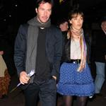 Keanu Reeves and Trinny Woodall and mystery woman in London 26405