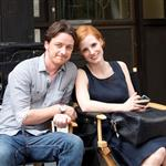 James McAvoy and Jessica Chastain film The Disappearance Of Eleanor Rigby 122564