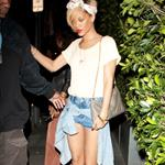 Rihanna leaving restaurant Giorgio Baldi in Malibu 109501