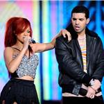 Rihanna and Drake at NBA All Star Game  79624