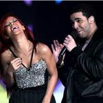 Rihanna and Drake at NBA All Star Game  79626