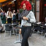Rihanna in New York promoting new album and at Drake show 69690