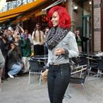 Rihanna in New York promoting new album and at Drake show 69691