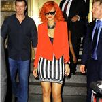 Rihanna in New York promoting new album and at Drake show 69693
