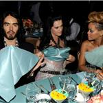 Rihanna with Katy Perry and Russell Brand at the Clive Davis Grammy party 2010 54351