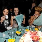 Rihanna with Katy Perry and Russell Brand at the Clive Davis Grammy party 2010 54352