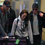Kristen Stewart and Robert Pattinson leave Vancouver after Twilight final reshoots 113242