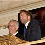 Robert Pattinson at The New York Stock Exchange with David Cronenberg 123333