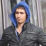 Robert Sheehan on the set of Love/Hate 109000
