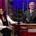 Julia Roberts takes over on Letterman August 2010 66611