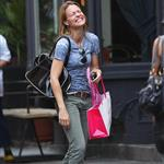 Robin Wright and daughter Dylan in New York 64417