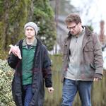 Joseph Gordon-Levitt and Seth Rogen on set in Vancouver  56722