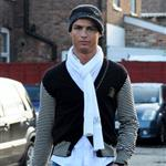 Cristiano Ronaldo yesterday in Cheshire 31991
