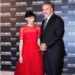 Rooney Mara and David Fincher at the premiere of The Girl with the Dragon Tattoo in Rome 102192