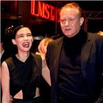 Rooney Mara and Stellan Skarsgard at the premiere of The Girl With The Dragon Tattoo in Stockholm, Sweden 100585