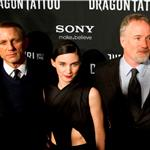 Daniel Craig, Rooney Mara and David Fincher at the premiere of The Girl With The Dragon Tattoo in Stockholm, Sweden  100587