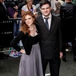 Rose Leslie and a date at the European premiere of The Dark Knight Rises 124217