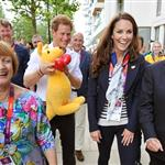 Hot Harry, Prince William, and Catherine meet with Olympic athletes and volunteers at GB House yesterday 122126