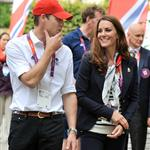 Hot Harry, Prince William, and Catherine meet with Olympic athletes and volunteers at GB House yesterday 122139