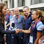 Hot Harry, Prince William, and Catherine meet with Olympic athletes and volunteers at GB House yesterday 122140