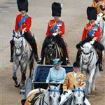 The Queen and Prince William at Trooping the Colour  87317