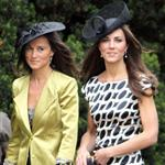 Kate and Pippa Middleton go to a wedding 87336