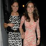 Kate and Pippa Middleton leaving Boujis 2007 87345