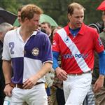 Princes William and Harry at a charity polo match yesterday  122517