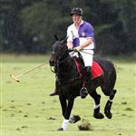 Princes William and Harry at a charity polo match yesterday  122520
