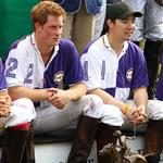 Princes William and Harry at a charity polo match yesterday  122521