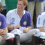 Princes William and Harry at a charity polo match yesterday  122534