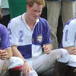 Princes William and Harry at a charity polo match yesterday  122536