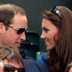 Prince William and Catherine, Duchess of Cambridge attend the match between Andy Murray of Great Britain and Nicolas Almagro of Spain in the Quarterfinal of Men's Singles Tennis on Day 6 of the London 2012 Olympic Games at Wimbledon 122195