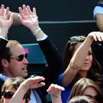 Prince William and Catherine, Duchess of Cambridge attend the match between Andy Murray of Great Britain and Nicolas Almagro of Spain in the Quarterfinal of Men's Singles Tennis on Day 6 of the London 2012 Olympic Games at Wimbledon 122198