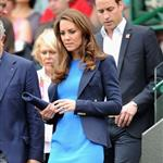 Prince William and Catherine, Duchess of Cambridge attend the match between Andy Murray of Great Britain and Nicolas Almagro of Spain in the Quarterfinal of Men's Singles Tennis on Day 6 of the London 2012 Olympic Games at Wimbledon 122203