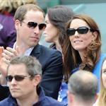 Prince William and Catherine, Duchess of Cambridge attend the match between Andy Murray of Great Britain and Nicolas Almagro of Spain in the Quarterfinal of Men's Singles Tennis on Day 6 of the London 2012 Olympic Games at Wimbledon 122206