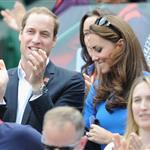 Prince William and Catherine, Duchess of Cambridge attend the match between Andy Murray of Great Britain and Nicolas Almagro of Spain in the Quarterfinal of Men's Singles Tennis on Day 6 of the London 2012 Olympic Games at Wimbledon 122215