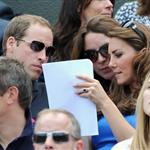 Prince William and Catherine, Duchess of Cambridge attend the match between Andy Murray of Great Britain and Nicolas Almagro of Spain in the Quarterfinal of Men's Singles Tennis on Day 6 of the London 2012 Olympic Games at Wimbledon 122217