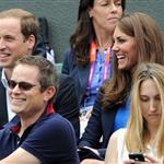Prince William and Catherine, Duchess of Cambridge attend the match between Andy Murray of Great Britain and Nicolas Almagro of Spain in the Quarterfinal of Men's Singles Tennis on Day 6 of the London 2012 Olympic Games at Wimbledon 122219